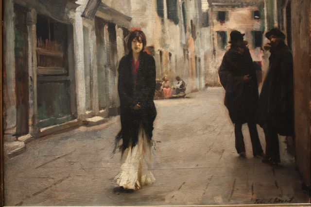 John Singer Sargent - Streets in Venice - Oil on Canvas - 1882