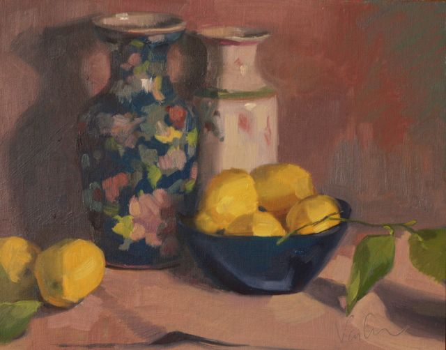 Japanese Vases and Lemons