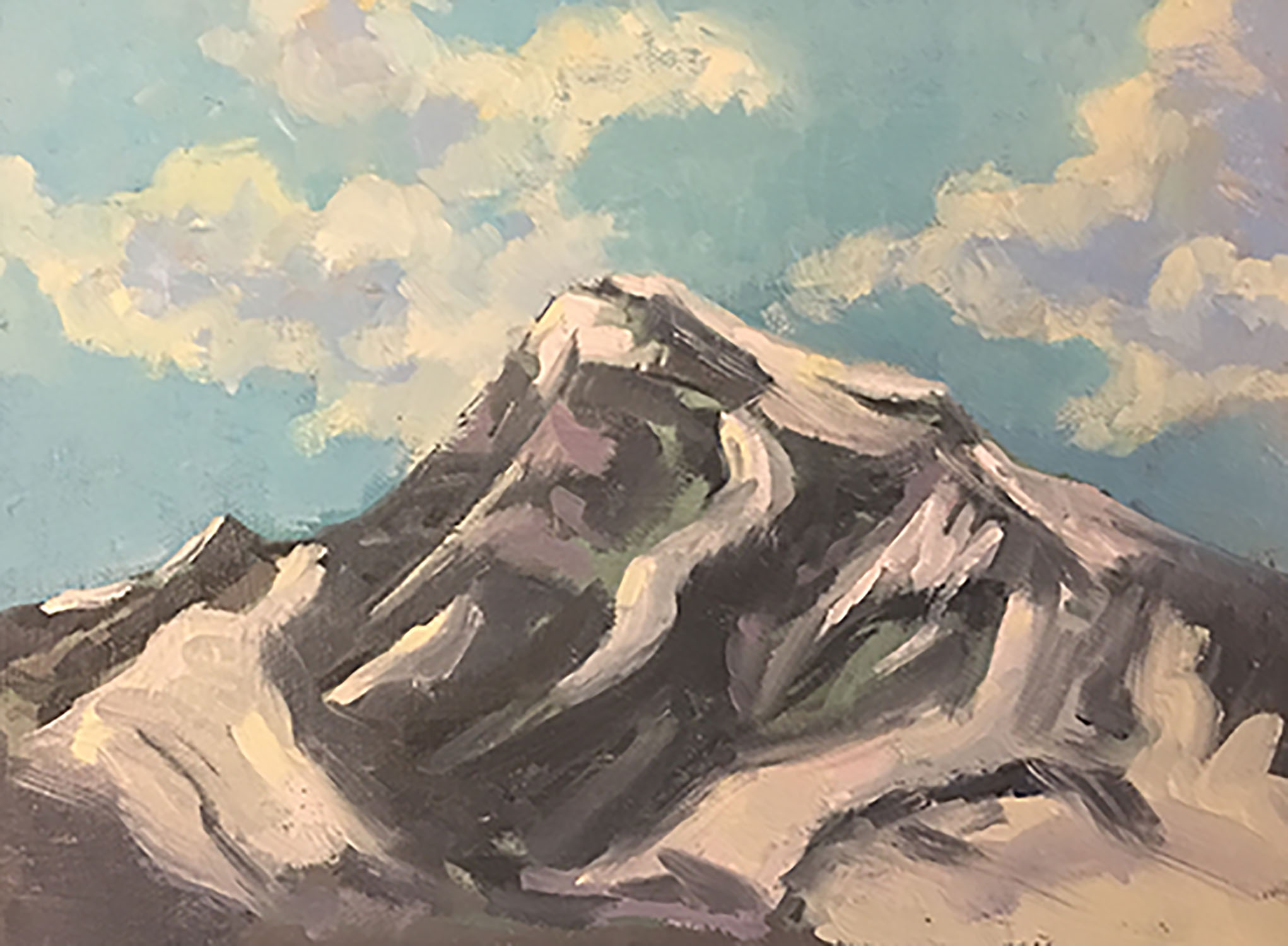 Heaven's Peak - 6x8 - Oil. We found a spot to stop in the park with this view. It was a little challenging since we didn't have much shade and the bugs were biting so I painted small and fast.