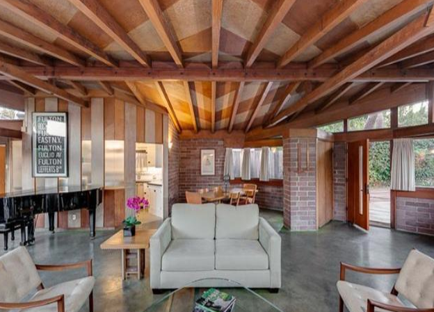 """Per the losing, """"Frank Lloyd Wright Jr. had a vision to design an affordable quality home with characteristic elements of his father's Usonian houses and the Dorland home was created!"""""""
