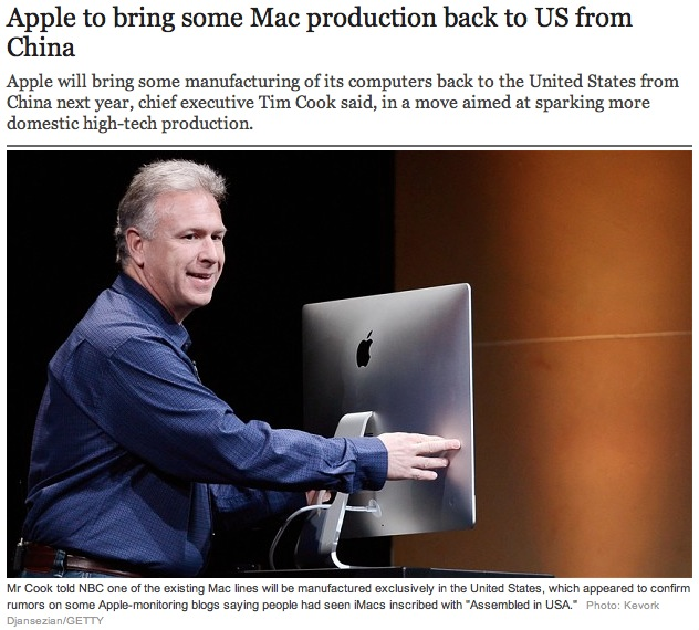 """Here's how I imagine the talk at   The Telegraph   going:   """"Hey chief! I've got a write-up on the Tim Cook interviews.""""   """"Great! Have you got a picture of him to go along with it?""""   """"Um... yes?"""""""