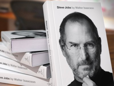 """Image: Apple Insider        One more accolade - of sorts - for Apple's fallen cofounder...       Amazon has put together it's end-of-year list of purchase wackiness.       What has this to do with Steve Jobs?      Business Insider has the all-things-to-everyone seller saying that """"  Amazon customers purchased enough copies of Walter Isaacson's """"Steve Jobs"""" book to create a stack taller than Mt. Everest.""""     I think we should try it. Now run, run away."""