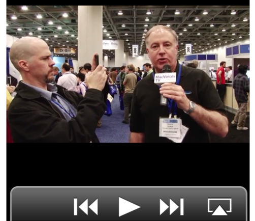 Chuck Joiner was kind enough to interview me for  MacVoices TV  at Macworld. There we discussed the Macworld Industry Froum, the evolution of the Macworld Expo, and  Mac OS Ken: Live (iTunes link) . Have a look at the  interview here  (and thanks Chuck!).