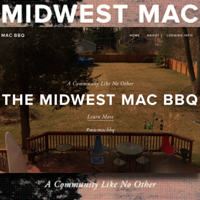 Barry built the site for the Midwest mac BBQ using Squarespace. (Are you going?)
