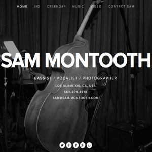 Sam built (then rebuilt) his site using Squarespace. Take a look at what's changed.