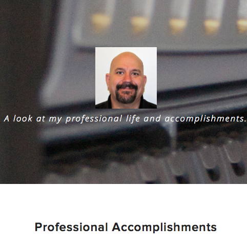 Seth turned his resumé into a website with Squarespace.