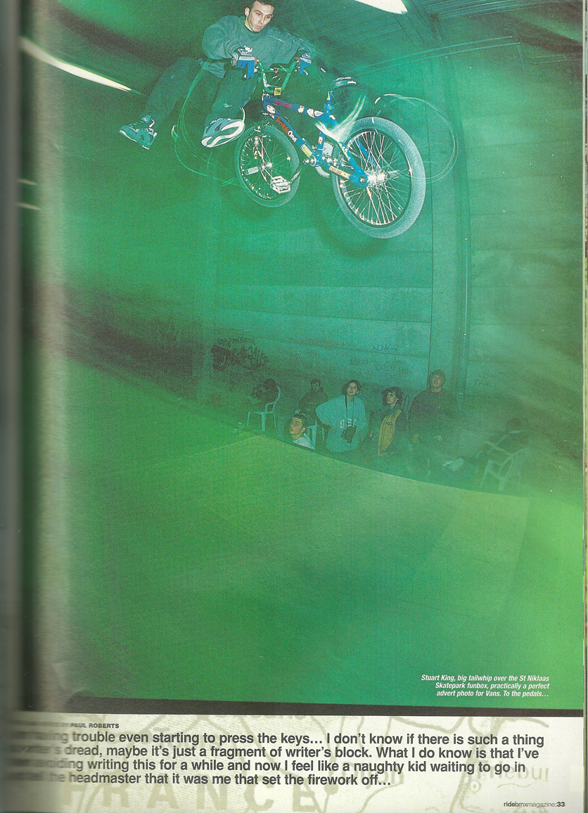 Stuart King Vans ad