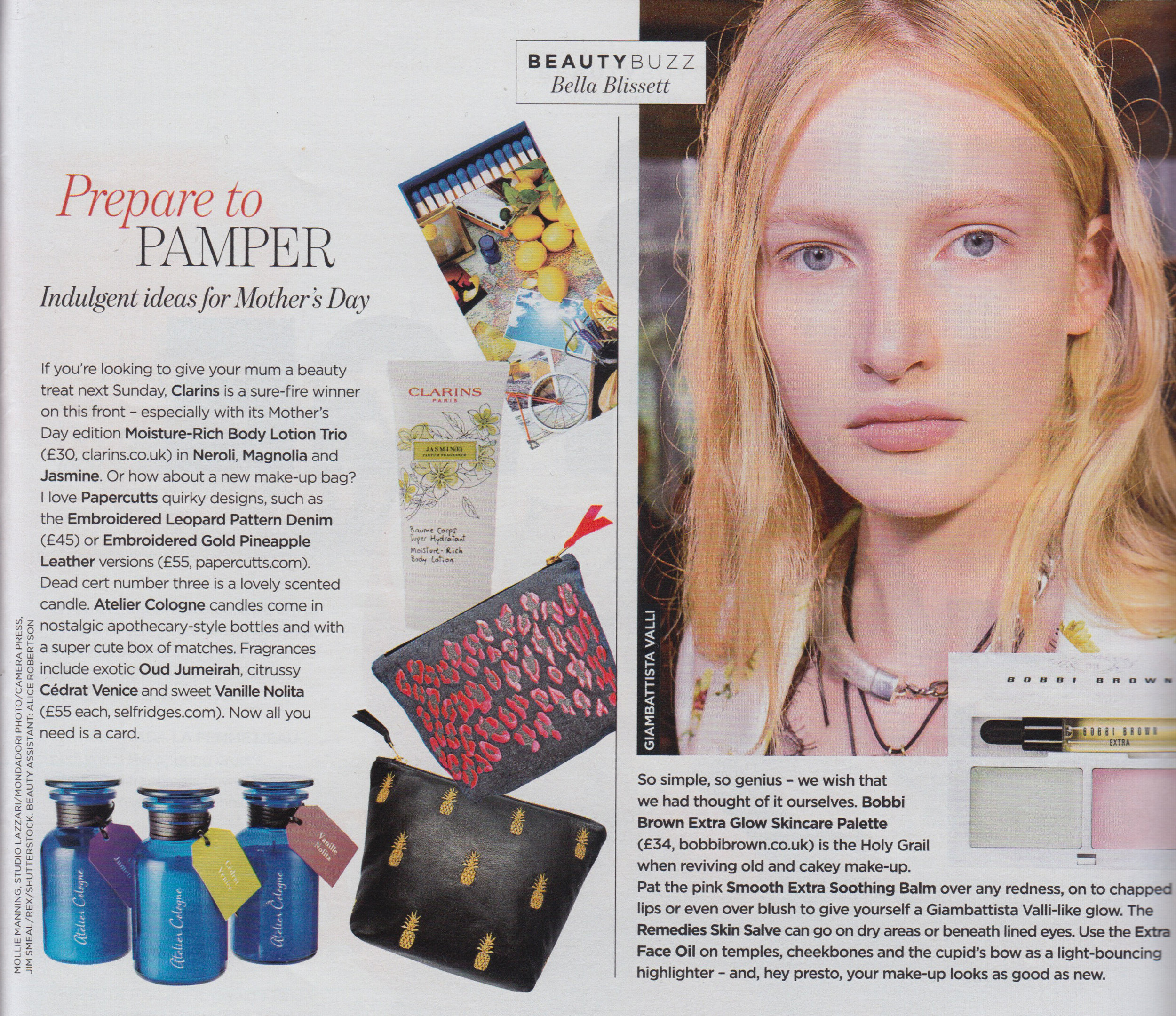 You Magazine- Beauty Buzz - Featuring the 'Pineapples' and 'Carla' make up bags in a round up of indulgent gift ideas for Mother's Day. Thank you so much You Magazine!
