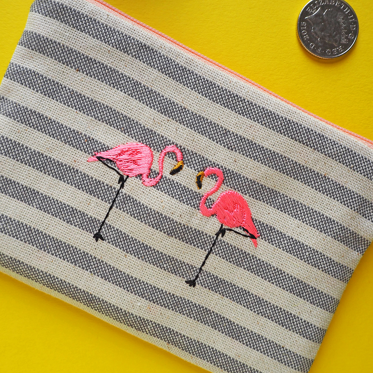 flamingoes stripe close up yellow bg.jpg
