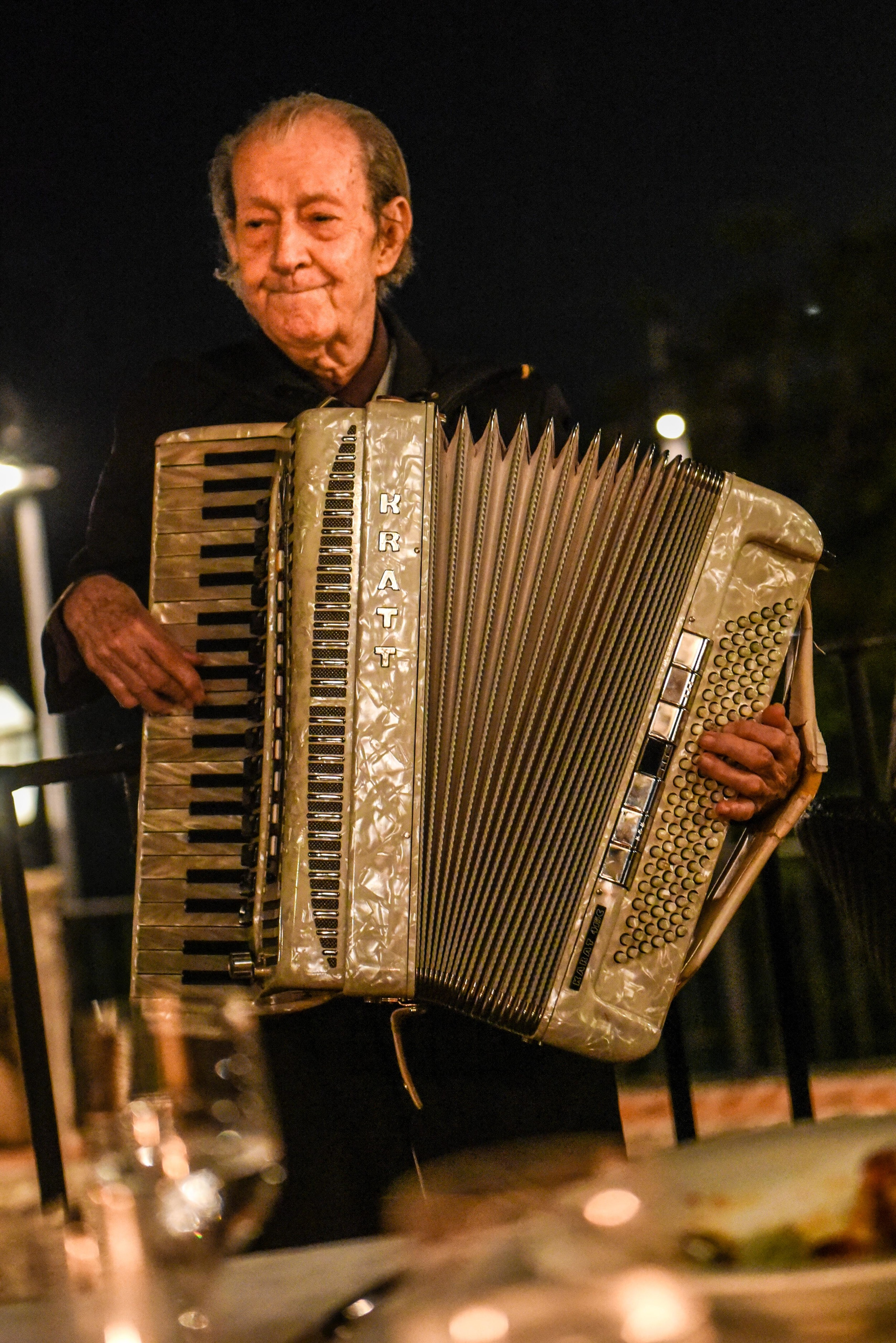 This man is 97 years old. He plays the accordion 6 days a week. Life goals please.