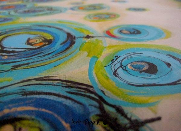 "'Ocean Floor' 28""x22 Mixed Media - Pippin Schupbach"