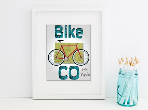 'Bike CO' Digital Download Poster