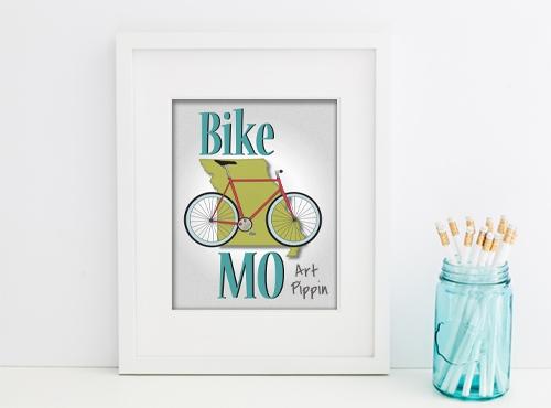 'Bike MO' Digital Download Poster