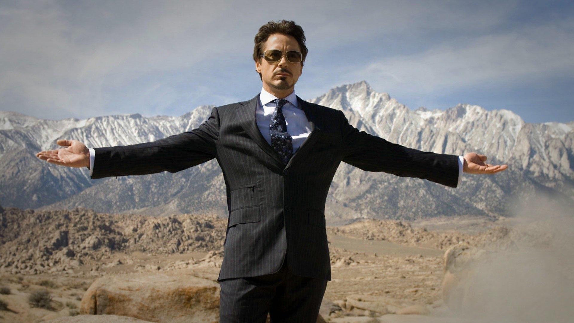 Der spätere 'Iron Man'Tony Stark (Robert Downey Jr.)