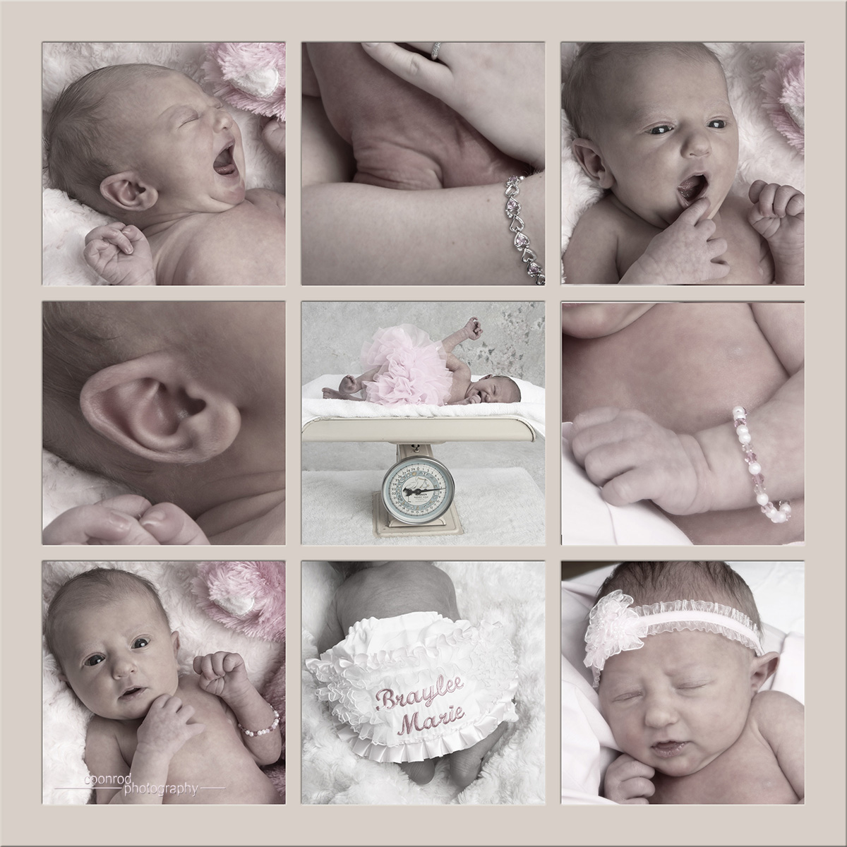 "Shown: ""9 Image Newborn Panel"" - Available in Kids Club ""Works"" package, or A La Carte"