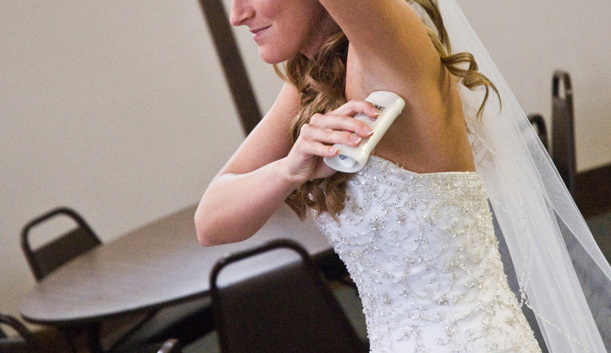 You might be a little nervous before your wedding...