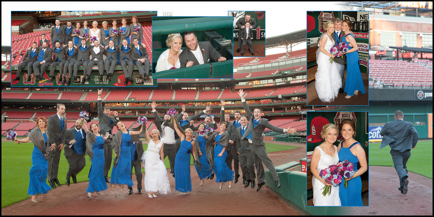 Katelyn & Levi's Wedding in Fall 2015 with pictures at Busch Stadium!
