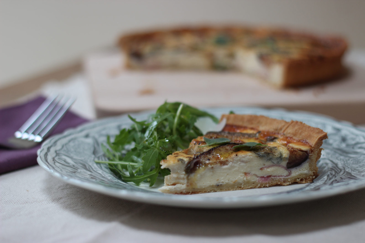 Serrano Ham, Gorgonzola and Fig Tart