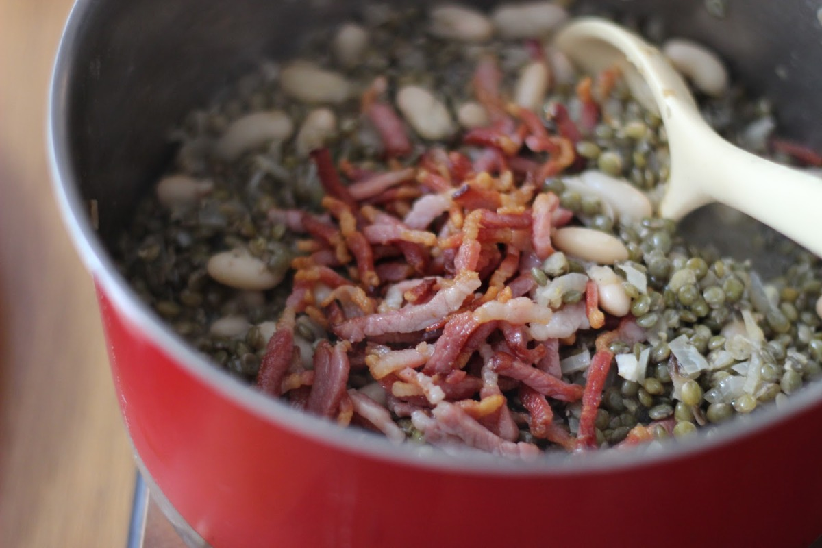 Bacon and Puy Lentils