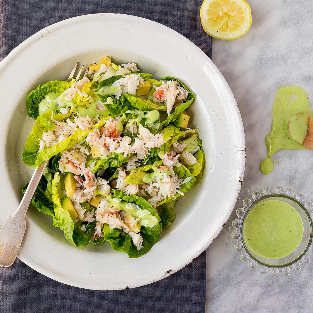 Green Caesar carb salad  31 May 2015
