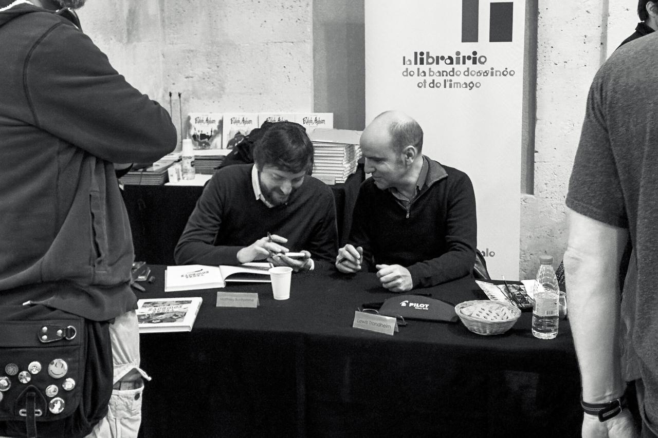 Matthieu Bonhomme and Lewis Trondheim