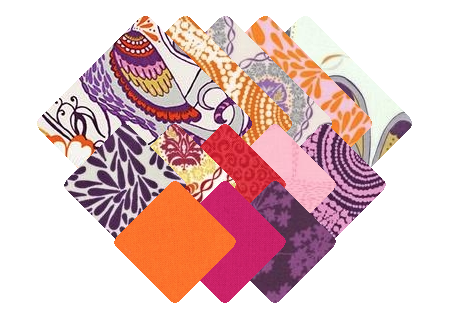Quill quilting cottons in the Cabana color story. For more options, visit  robertkaufman.com/fabrics/quill