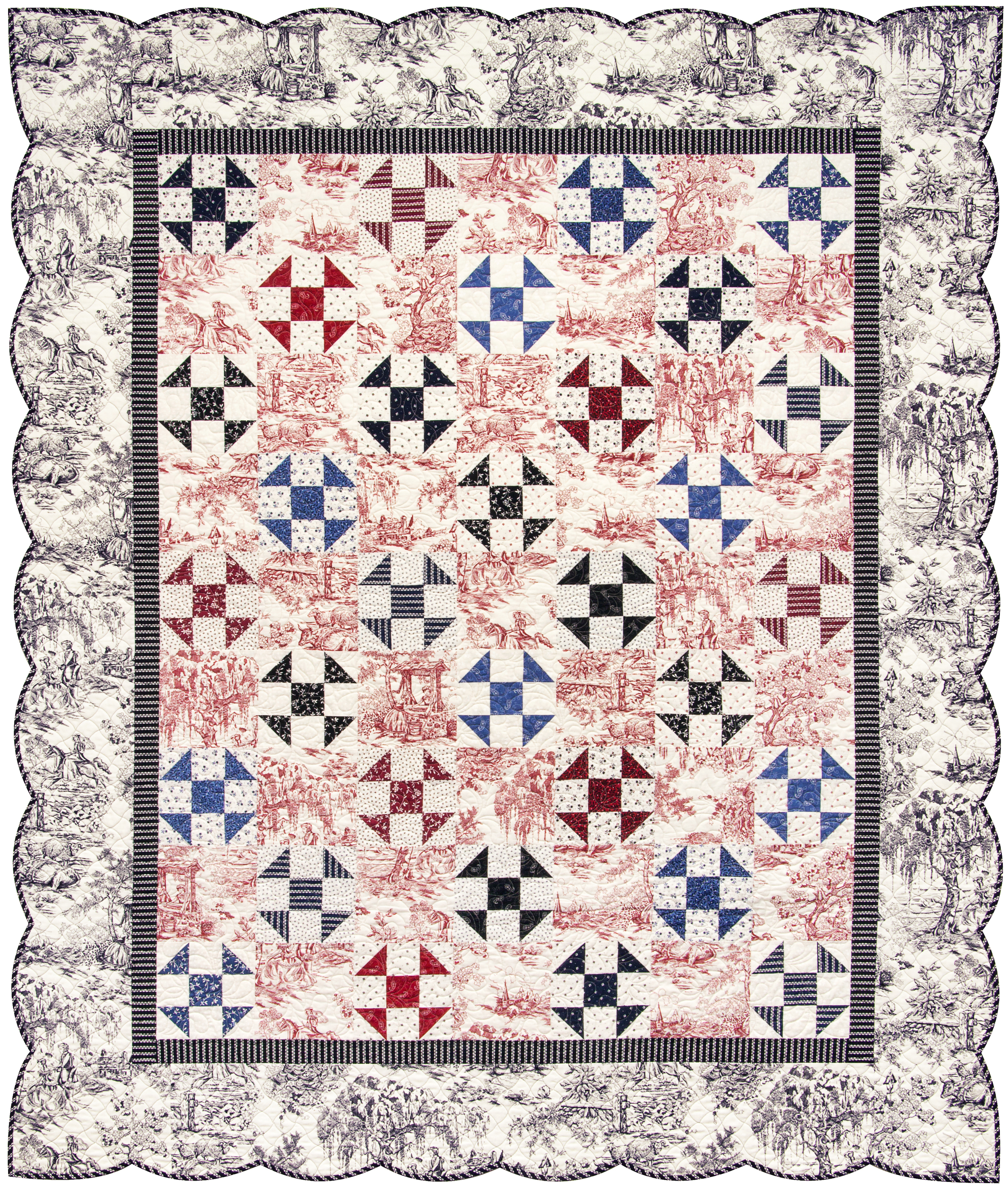 "'Bursting In Air' quilt (62.5"" x 72"")  Download the FREE pattern , designed by Darlene Zimmerman, from our Patterns section at robertkaufman.com."