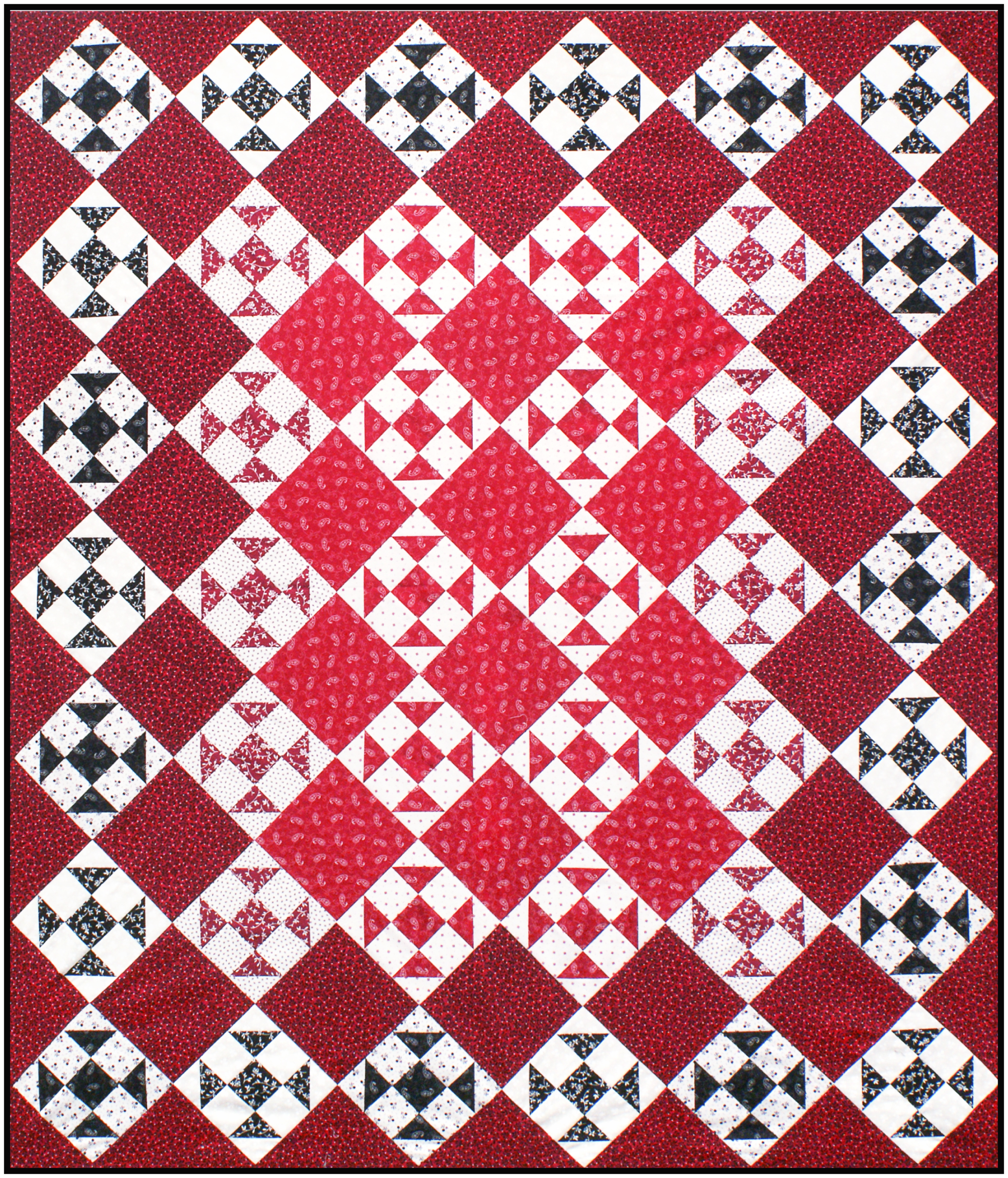 """Classic Colors"" quilt (51"" x 60"")  Download the FREE pattern , designed by Darlene Zimmerman, from our Patterns section at robertkaufman.com."