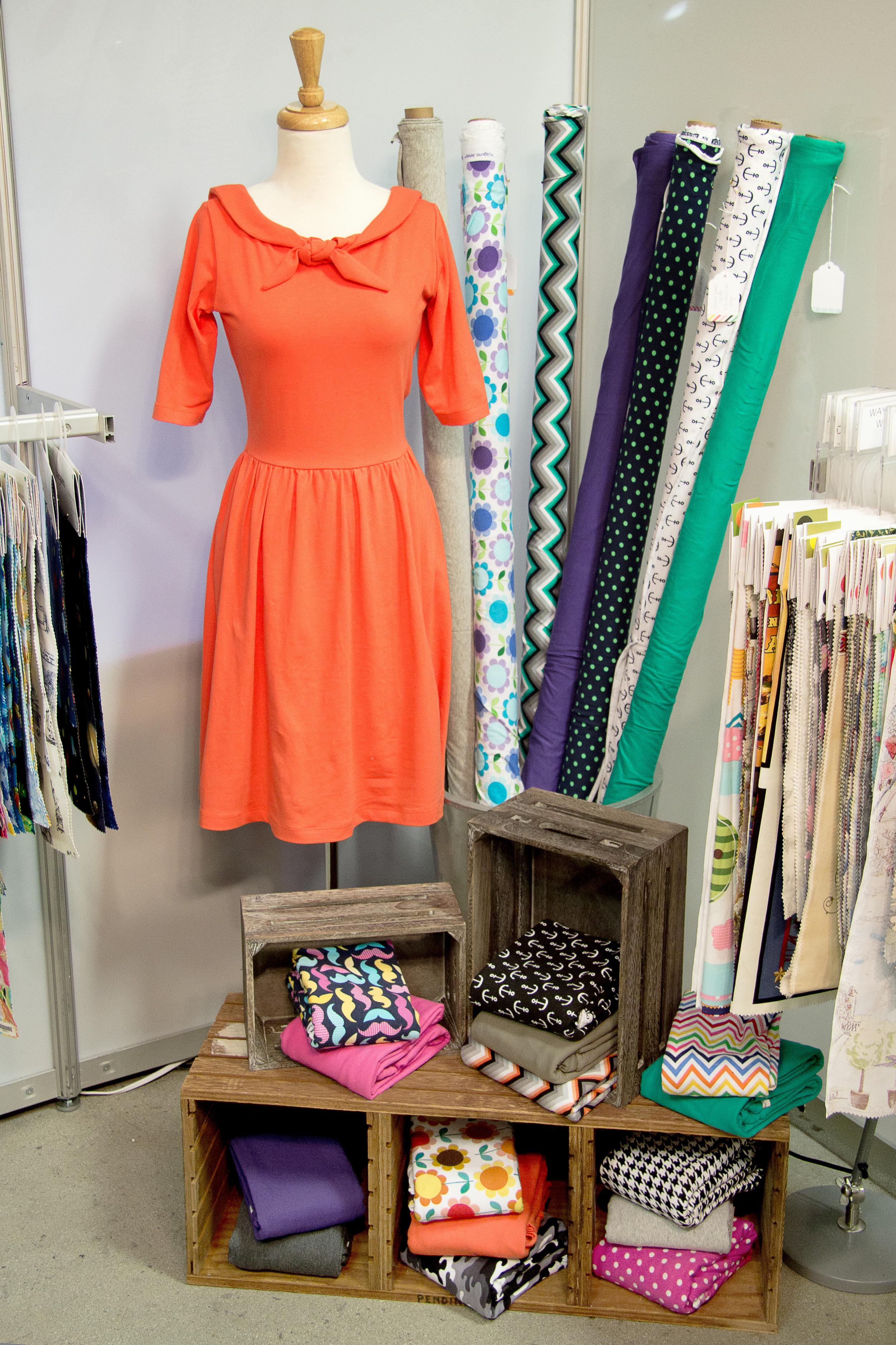 Featuring  Laguna Cotton Jersey ,  Laguna Jersey Heather , and  Laguna Jersey Prints !  Moneta Dress- by  Colette Patterns,  Made by Devon ( Miss Make ), Laguna Cotton Jersey  L087-1370