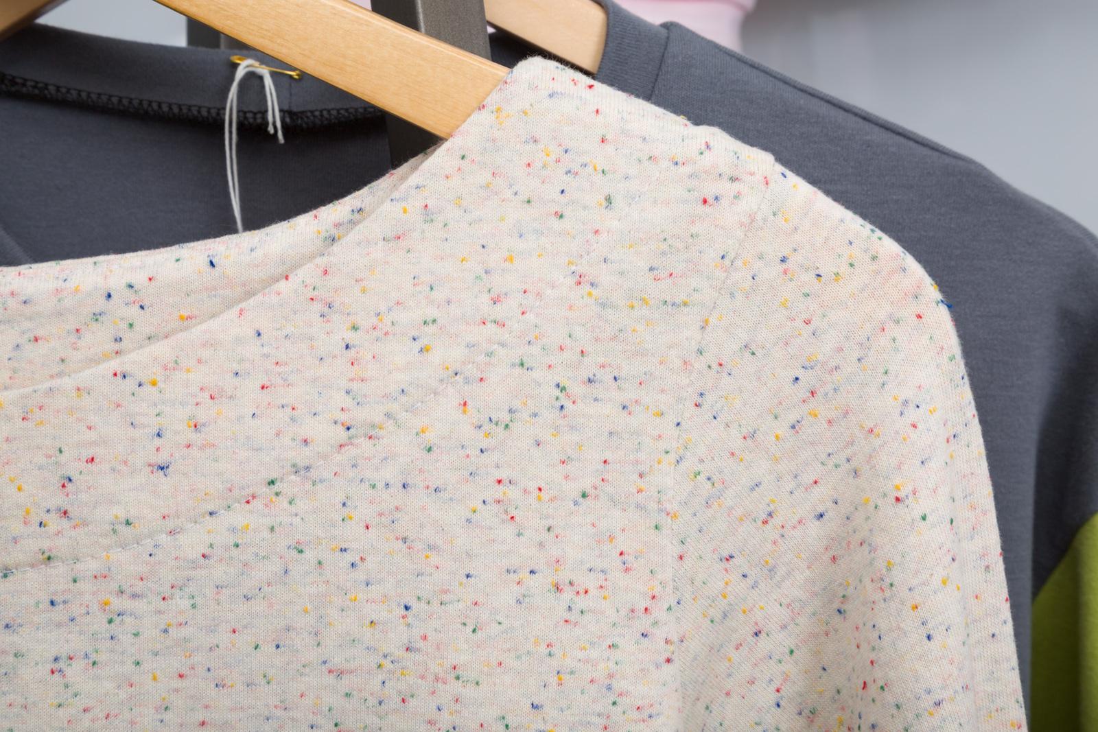 Shoreline Boatneck Tee   by   Blank Slate Patterns ,  made by    Devon Iott   , featuring   Speckle Cotton Jersey.