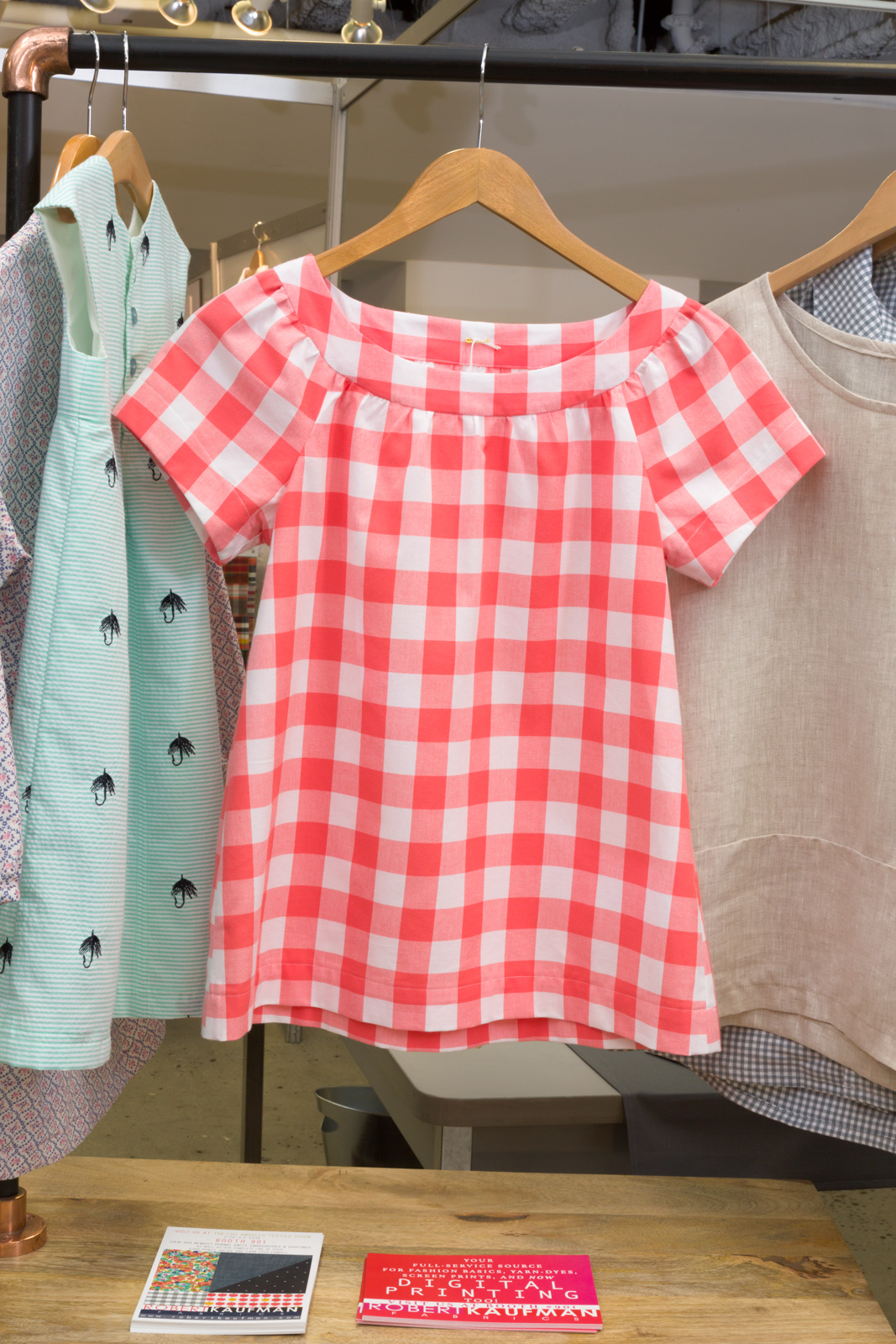 """Sailor Top   by   Fancy Tiger Crafts  , made by   Elinor Nissley  , featuring   Carolina Gingham 1"""""""