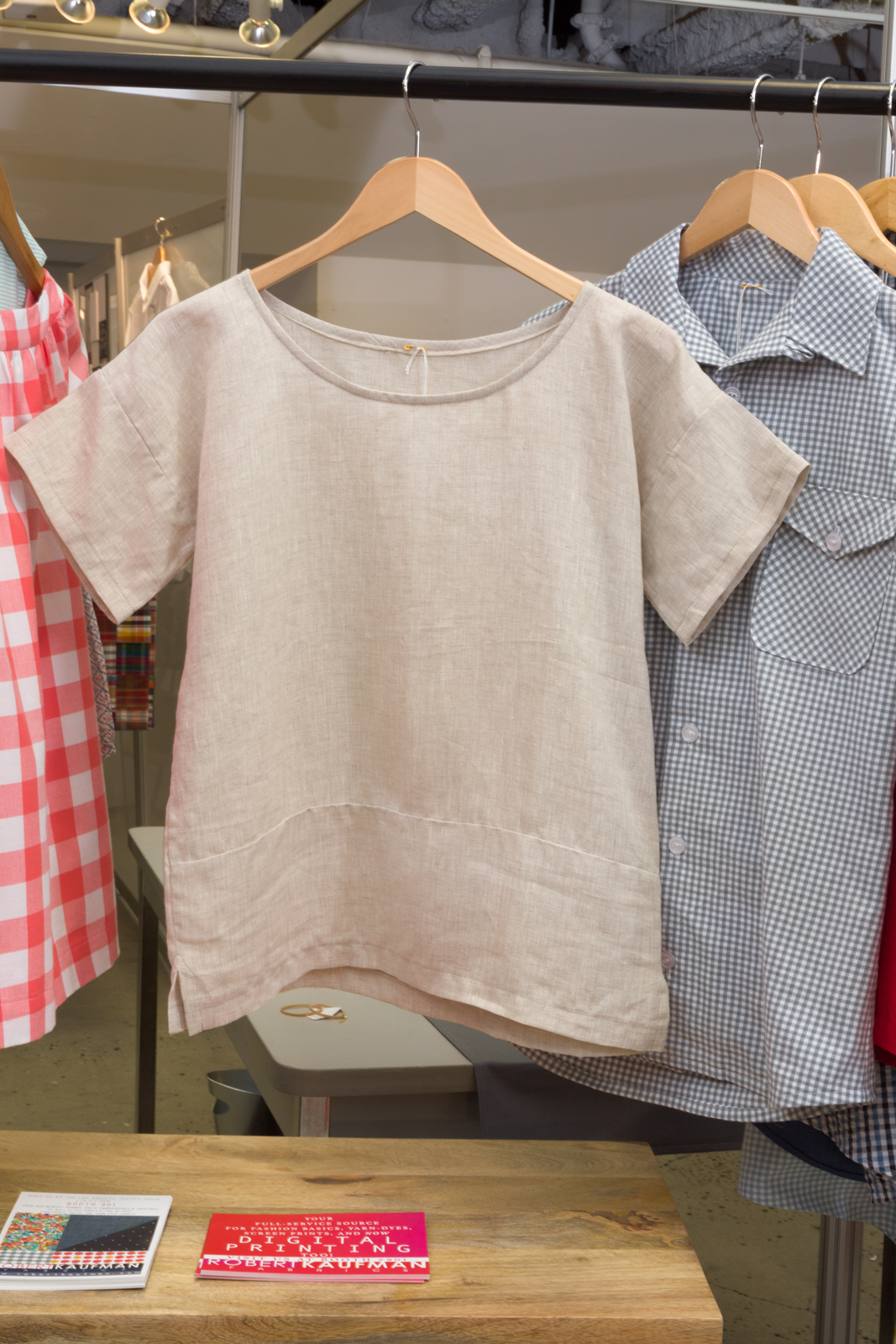 Boxy Tee   by   Purl Soho ,  made by   Liz Hanson,   featuring   Antwerp Linen.