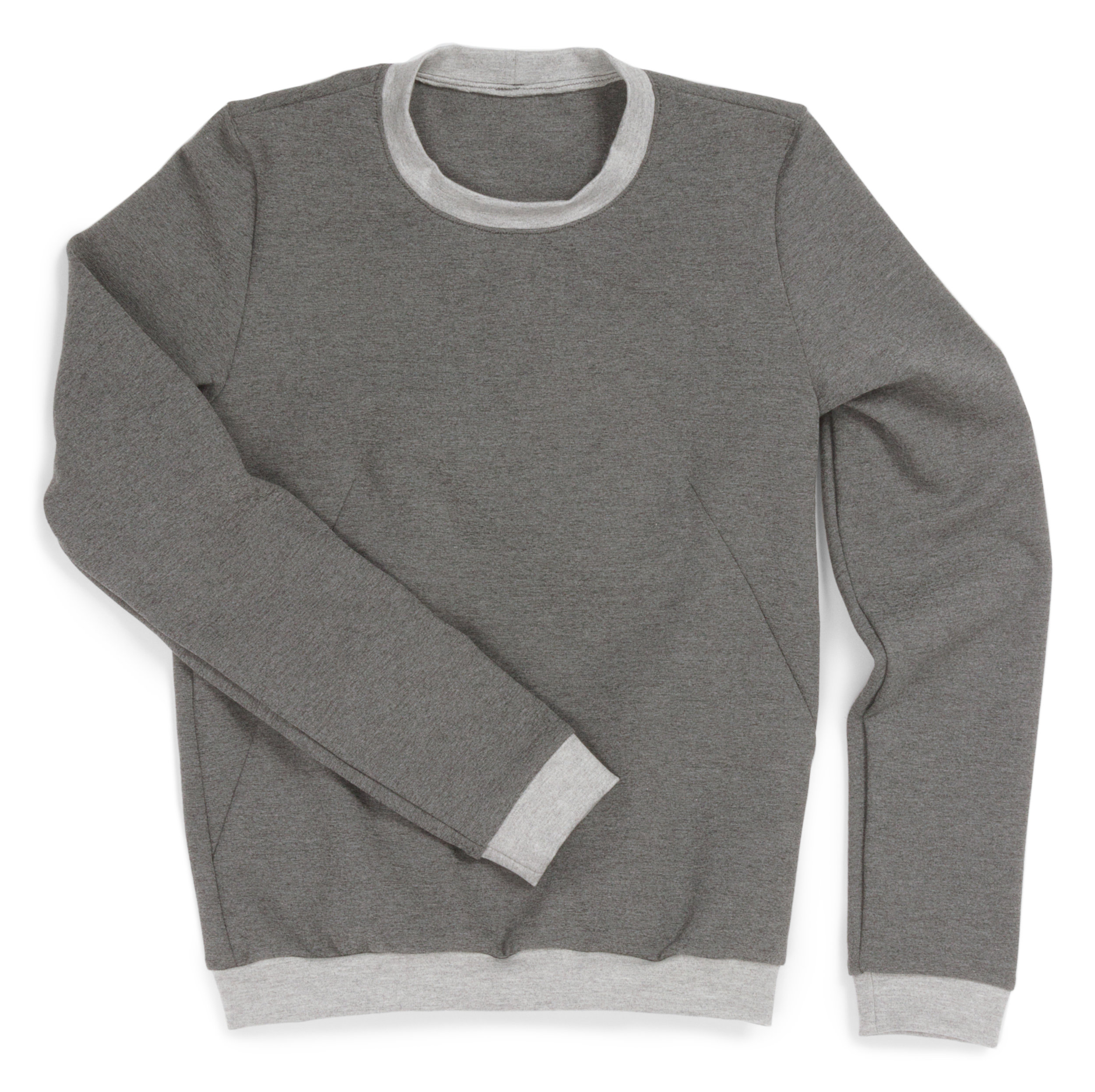 Sloane Sweatshirt   designed by   Named Clothing  , made by Erika Bea, featuring   Arietta Ponte de Roma Heather