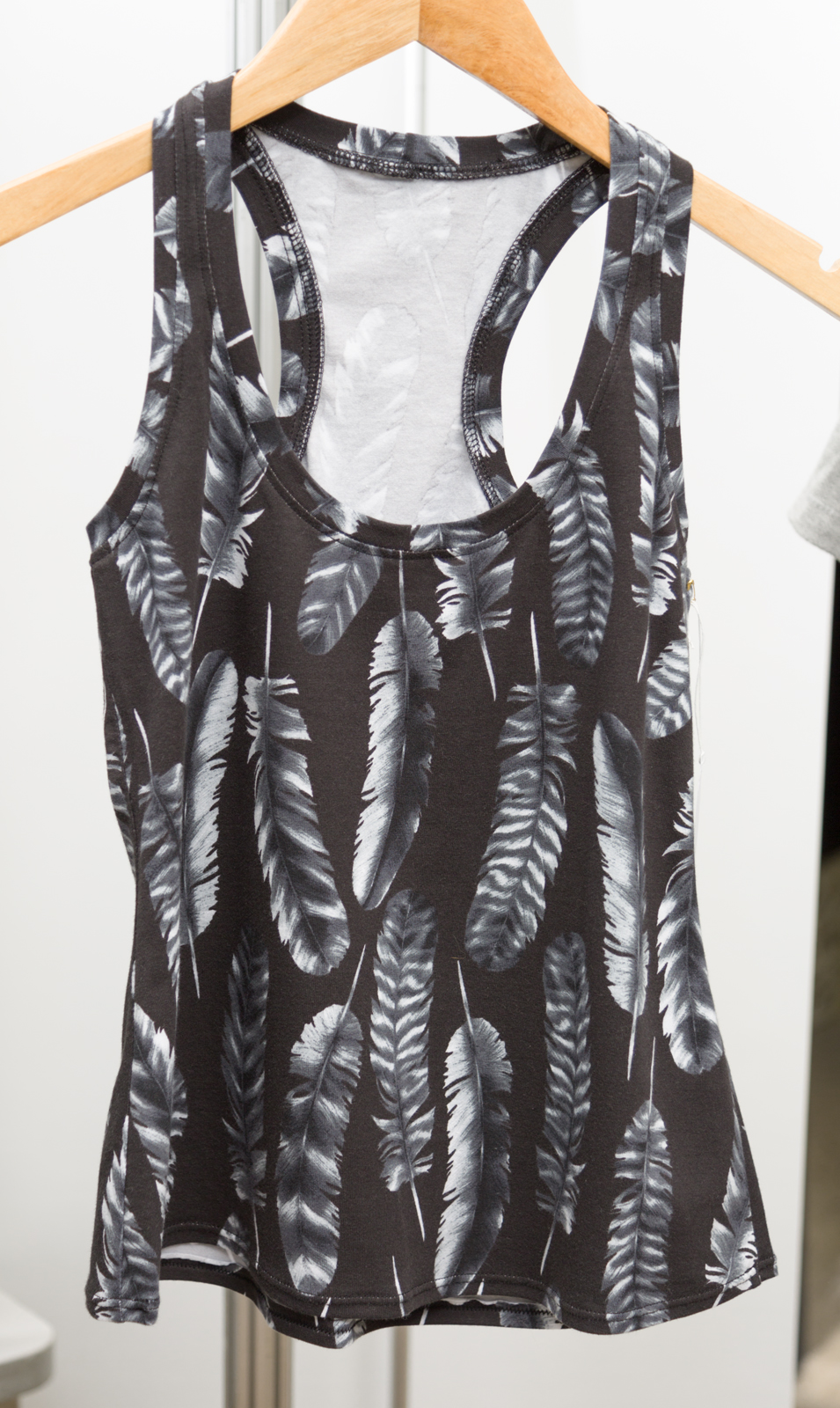 Rumi Tank by   Christine Haynes,   made by Christine Haynes, featuring     Laguna Jersey Prints   (   AJS-16378-184 CHARCOAL )