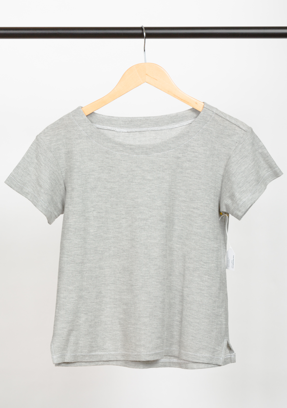 MARITIME TEE   DESIGNED BY   LIESL & CO.,   MADE BY   DEVON IOTT  , FEATURING   KNIT HERRINGBONE HEATHER