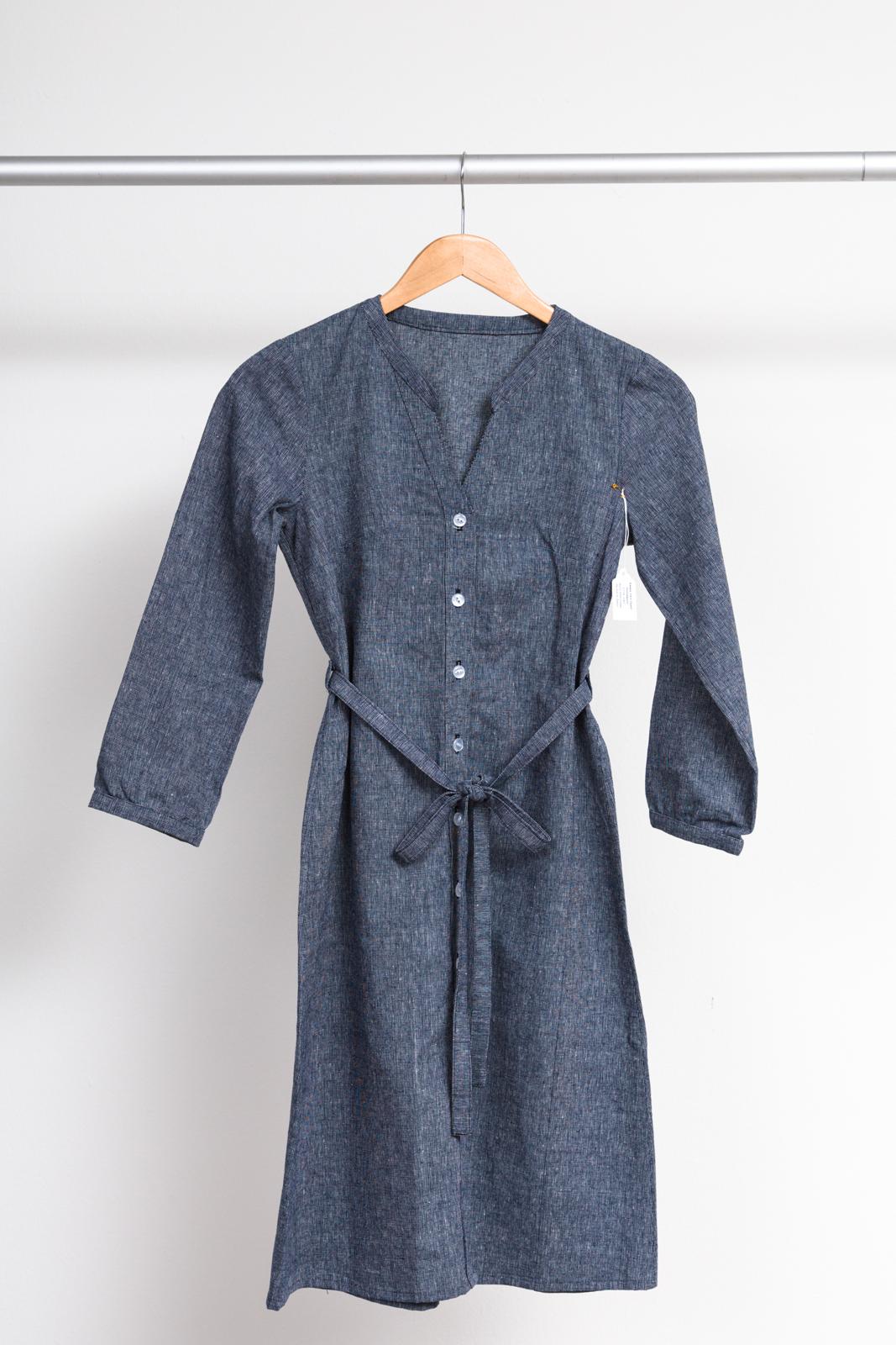 BONN SHIRT DRESS  BY  ITCH TO STITCH,   ESSEX YARN DYED HOMESPUN