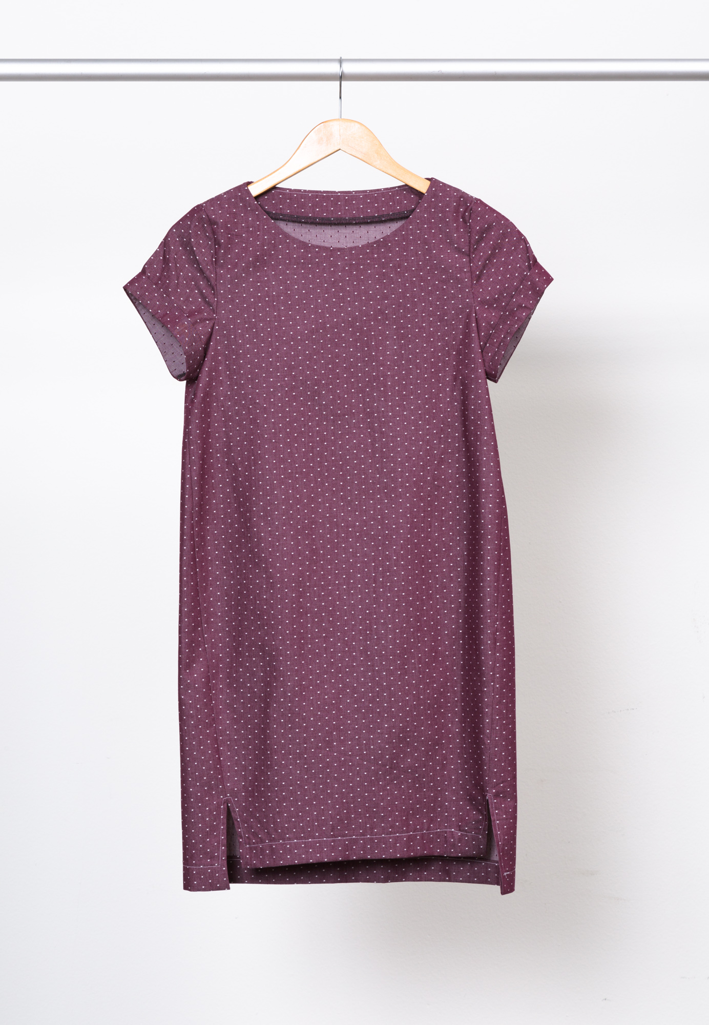 INARI TEE DRESS   BY   NAMED CLOTHING ,  COTTON CHAMBRAY DOTS