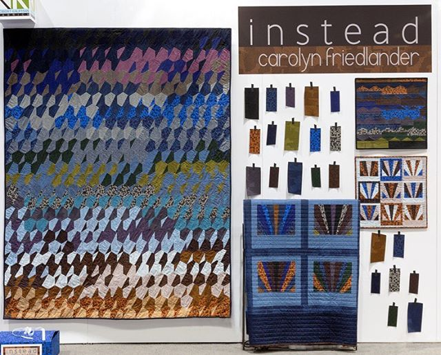 Instead by @carolynfriedlander in booth 925! #quiltmarket #rkatqm