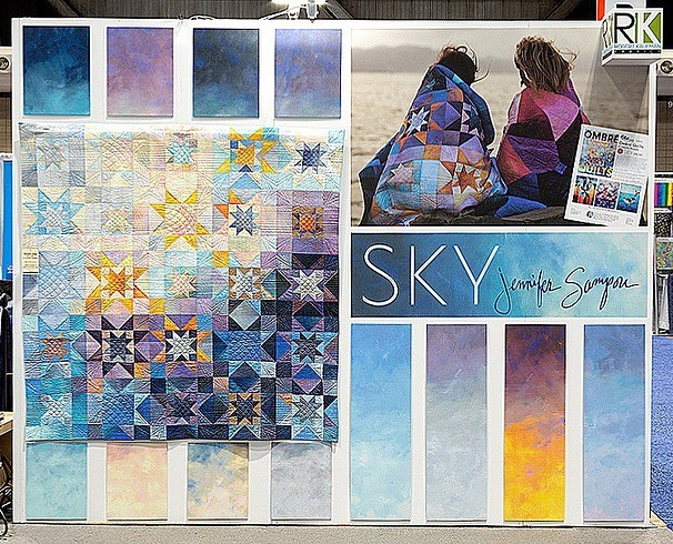 Sky by @jennifersampou in booth 925! #quiltmarket #rkatqm