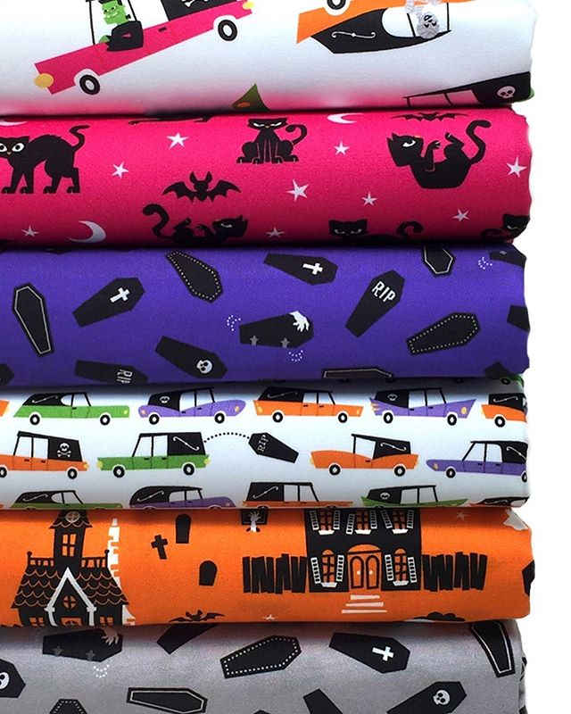 Spoooooky! Prepare for Halloween a few months early with these super cute Eerie Alley fabrics by @calebgray!