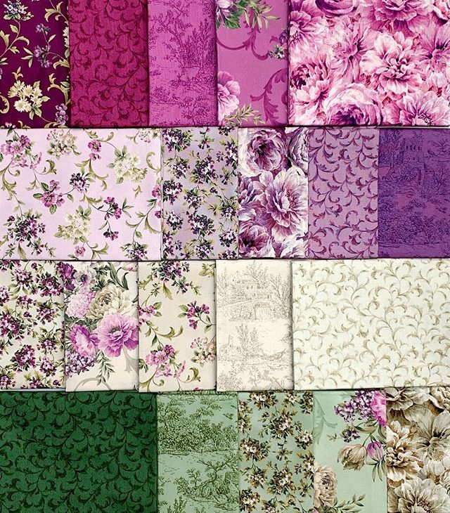These fanciful florals are heading to stores right now! What will you make with this group? Check out the Meredith collection page on our website to see the panels!
