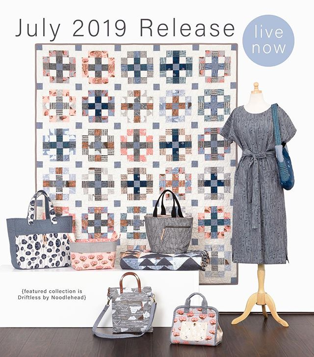 LINK IN BIO! The July Release is live and there are SO many new fabrics and projects to see. 🥳😀