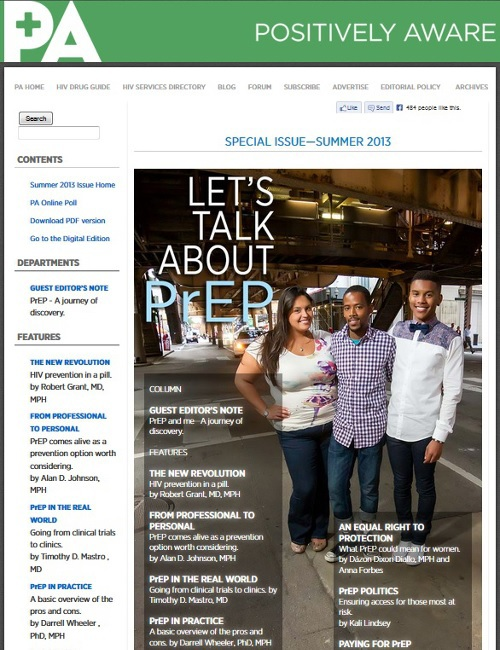 Let's Talk about PrEP: Positively Aware devotes their entire summer issue to PrEP