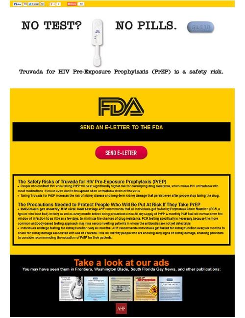 The AIDS Healthcare Foundation has created an anti-PrEP website