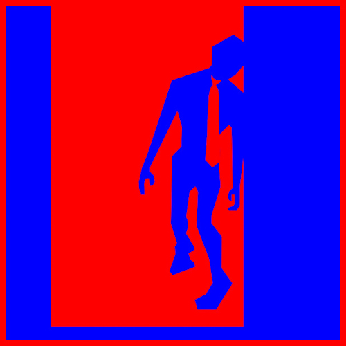 red and blue zombie