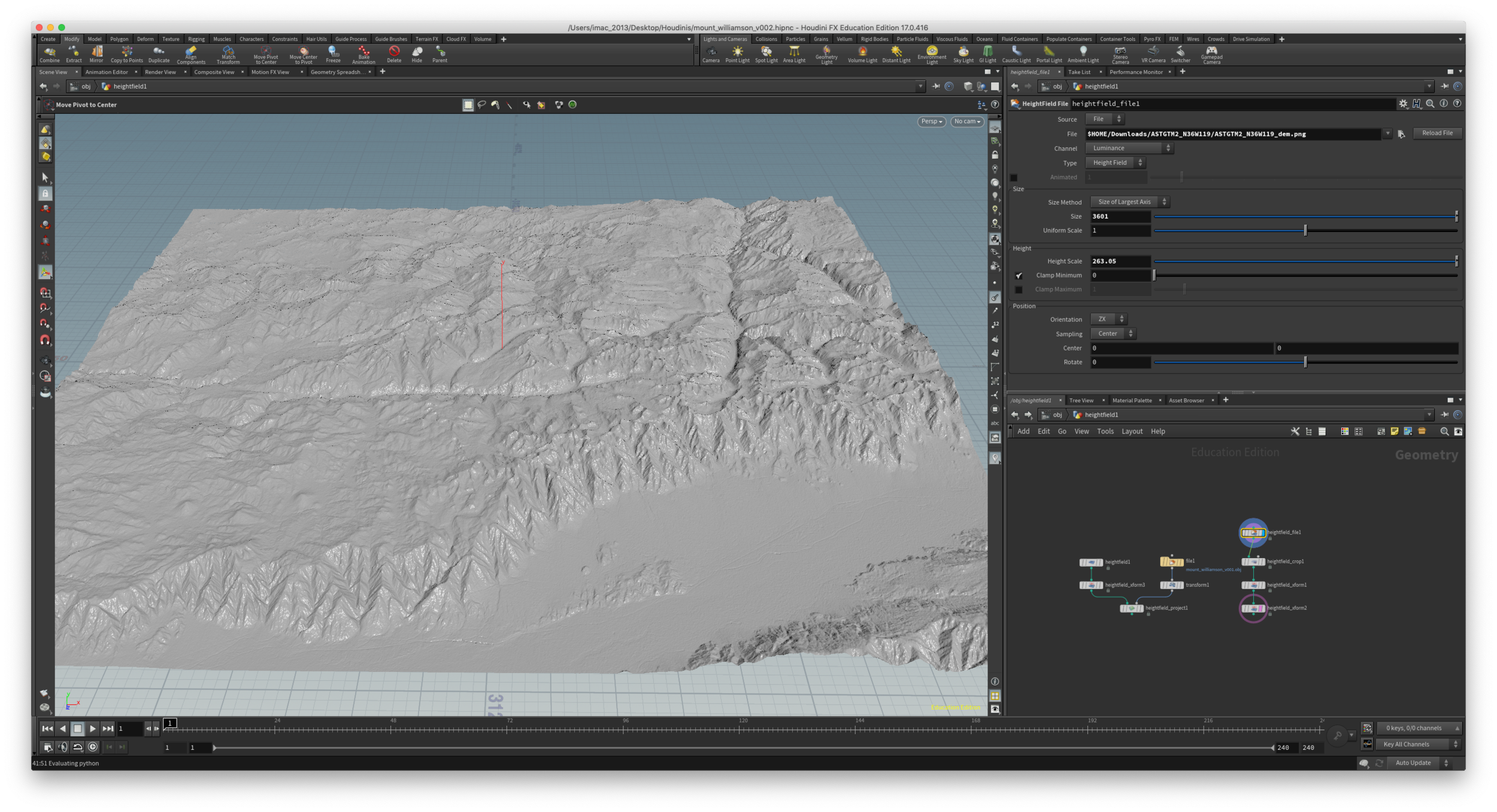 Houdini - geoTIFF - way larger than what I need. 1 degree or 60 sq km.