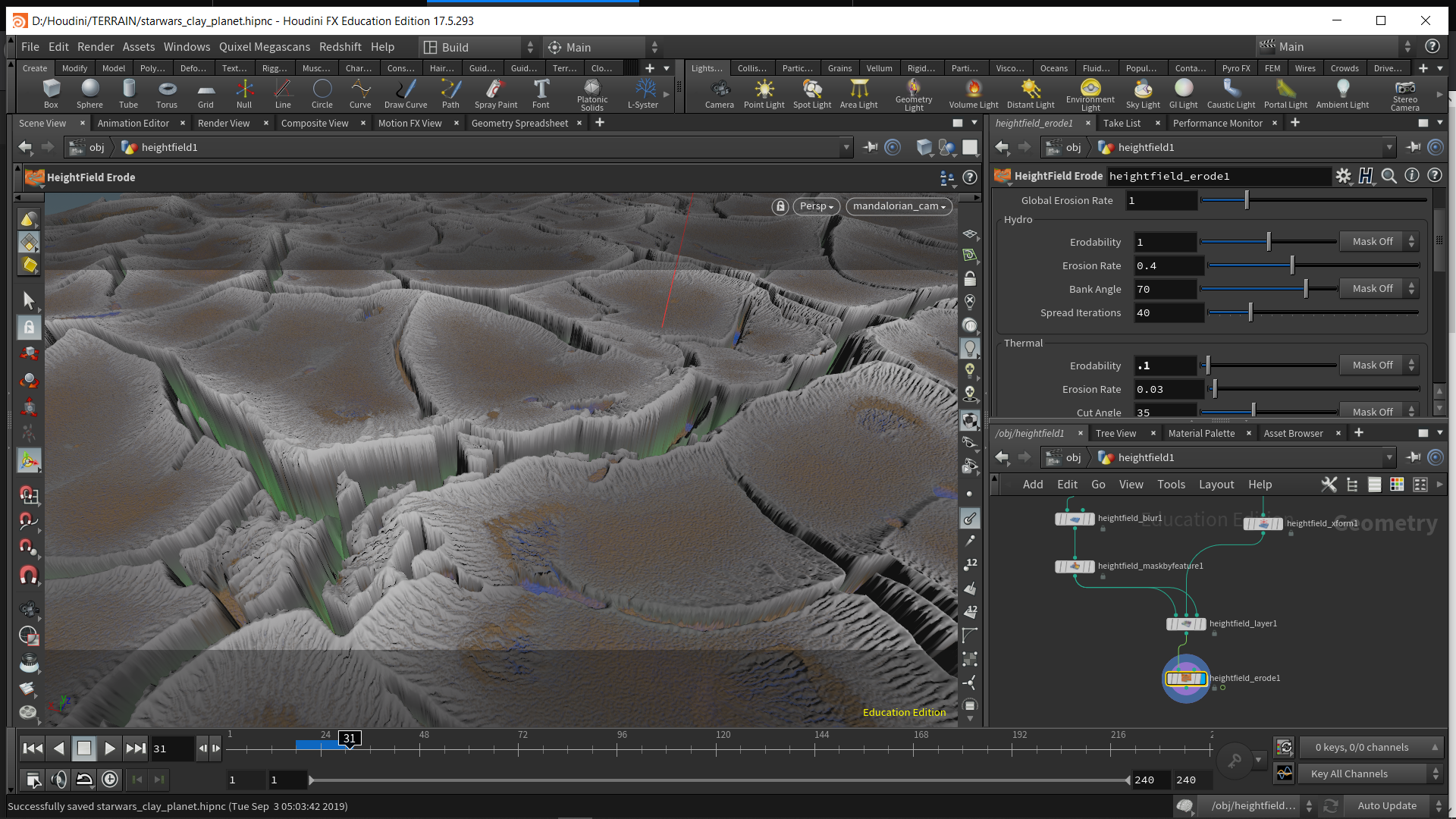 Initial test. *widen valleys, bring up valley floor, erosion could be just in texture.