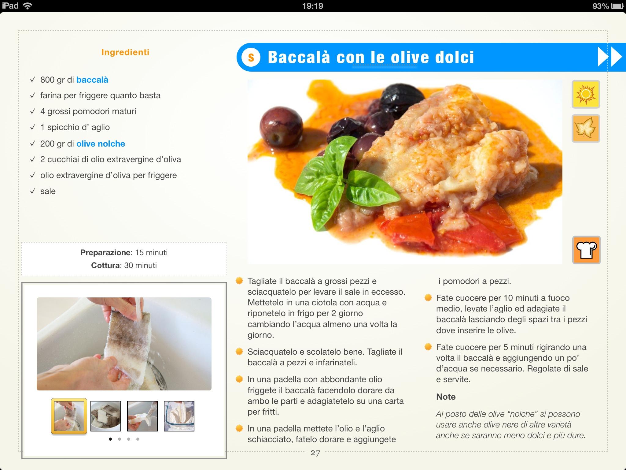 Esempio di ricetta