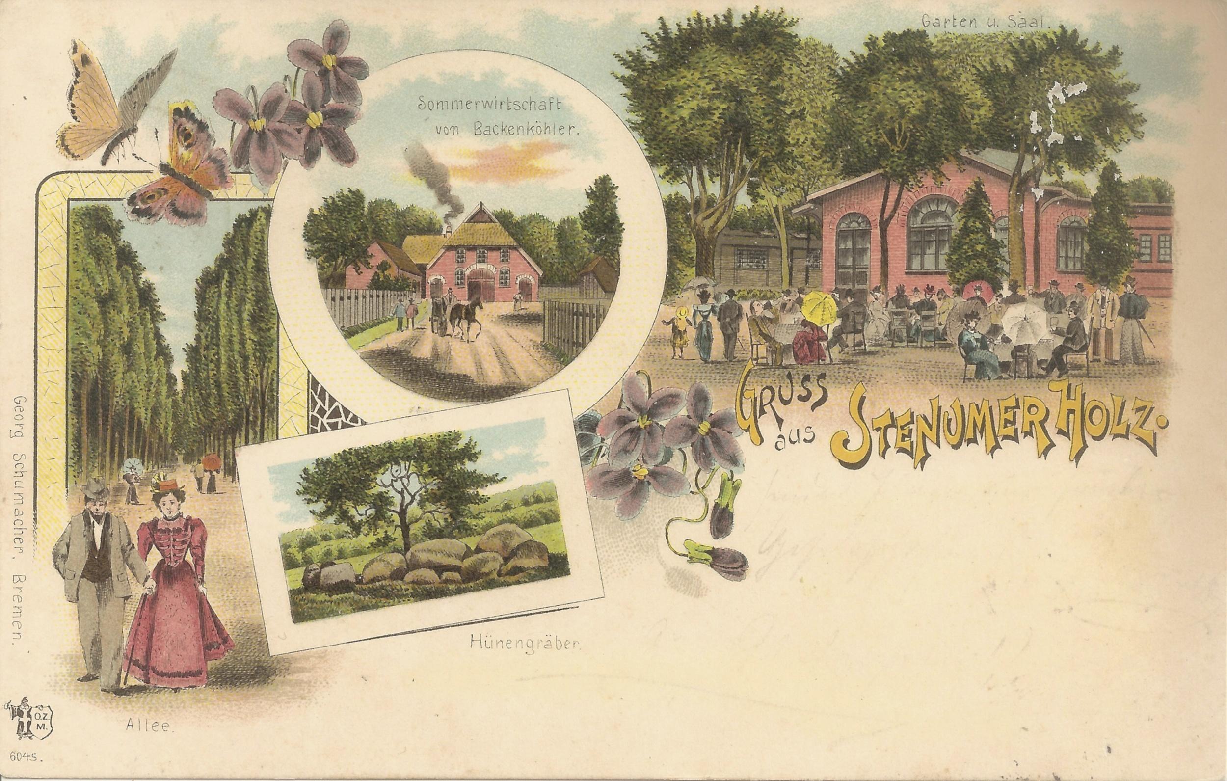 Postkarte von 1898