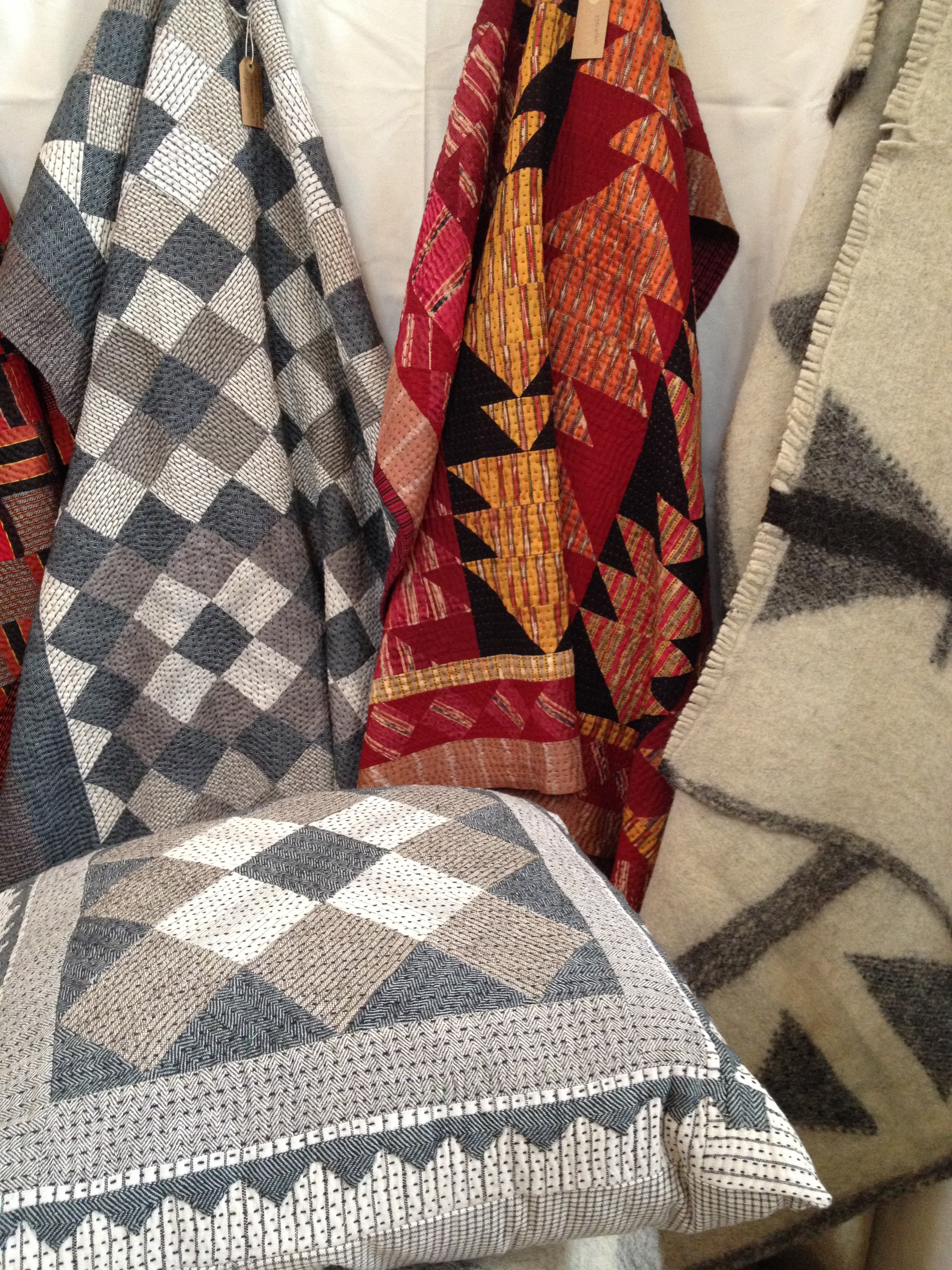 Patchwork quilts and radhi rug